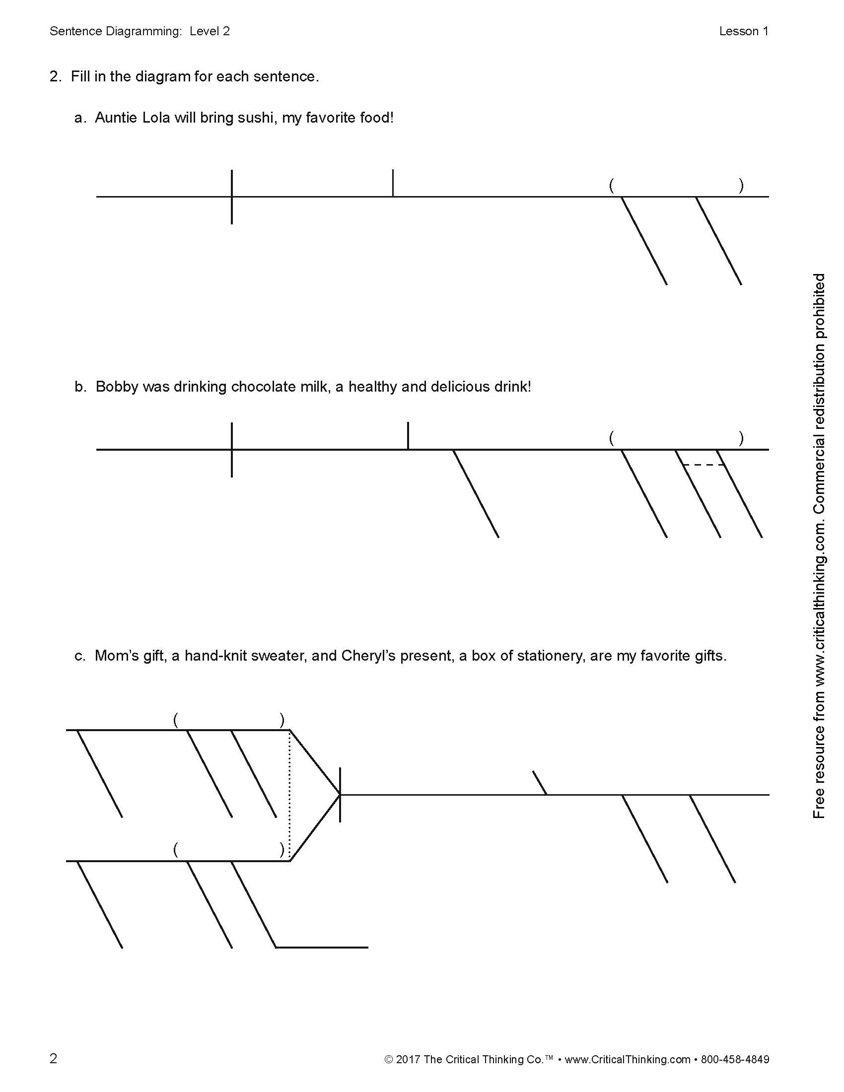 Sentence diagramming level 2 comparisons compound complex sentences ccuart Gallery