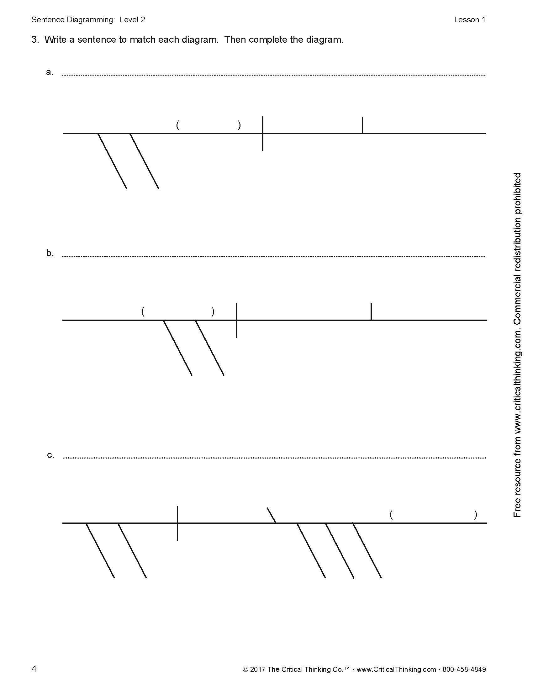 Sentence diagramming level 2 comparisons compound complex sentences ccuart Image collections