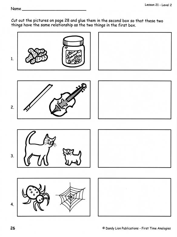 Analogy Worksheets For Middle School - Templates and Worksheets