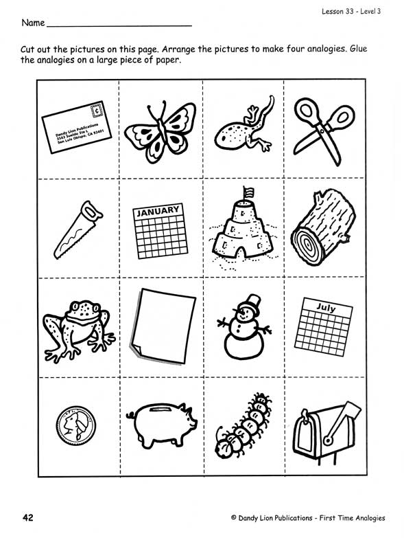 free worksheets picture analogies free math worksheets for kidergarten and preschool children. Black Bedroom Furniture Sets. Home Design Ideas