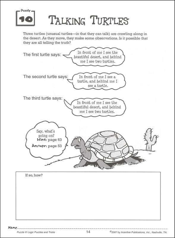 critical thinking puzzles for high school students Fun critical thinking activities - for students in any subject by monica dorcz | this newsletter was created with smore, an online tool for creating beautiful newsletters for for educators.