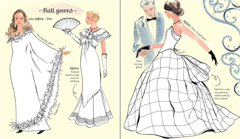 Vintage Fashion Coloring Book