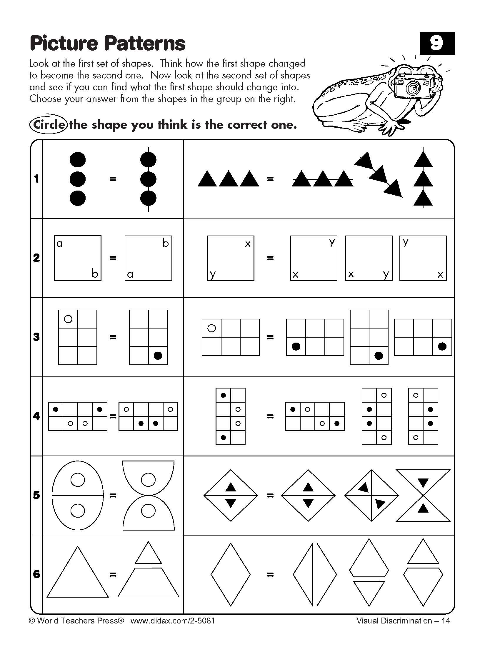 Worksheets Visual Discrimination Worksheets visual discrimination worksheet free worksheets library download spring preschool worksheets