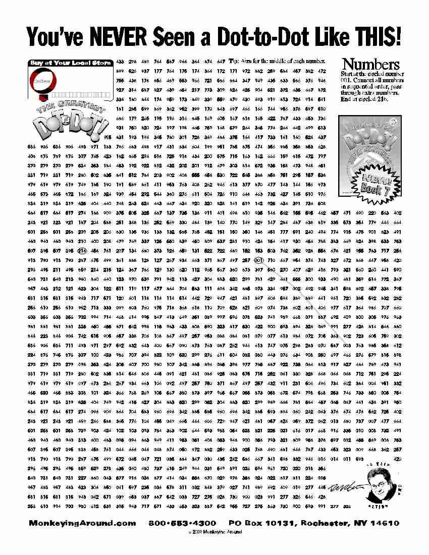 Hard Dot To Dot Printables 1000 Dots | LZK Gallery