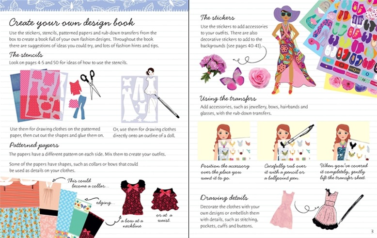 The accompanying book has dolls to dress pattern ideas outfits and accessories to color and pages to draw and color your own designs