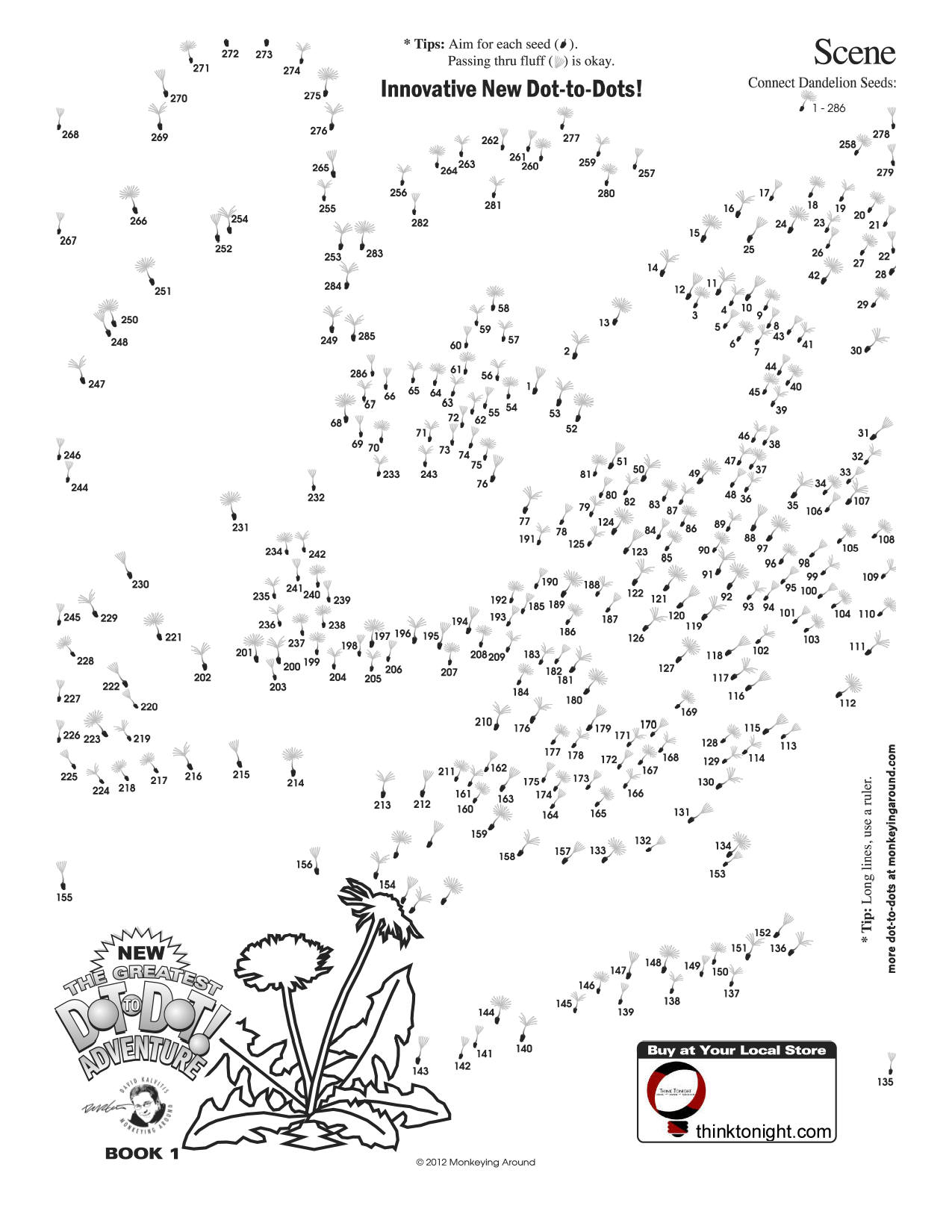 picture relating to Dot to Dot Puzzles for Adults Printable named Downloadable Dot-in direction of-Dot Puzzles